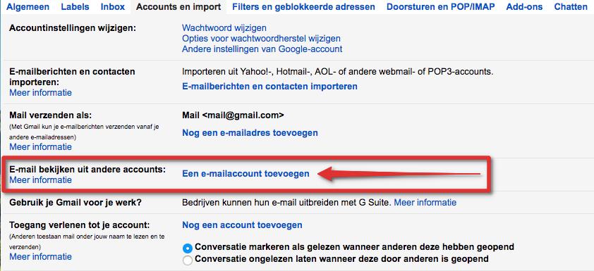 Gmail stap 2