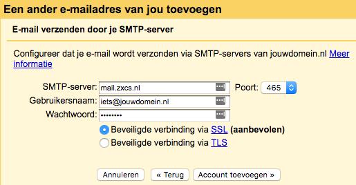 Gmail stap 6