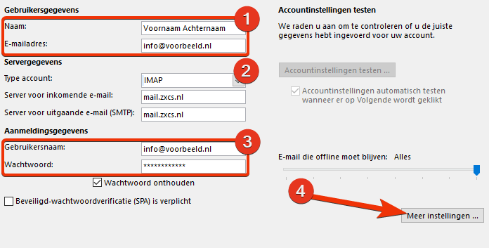 Stap 7 outlook
