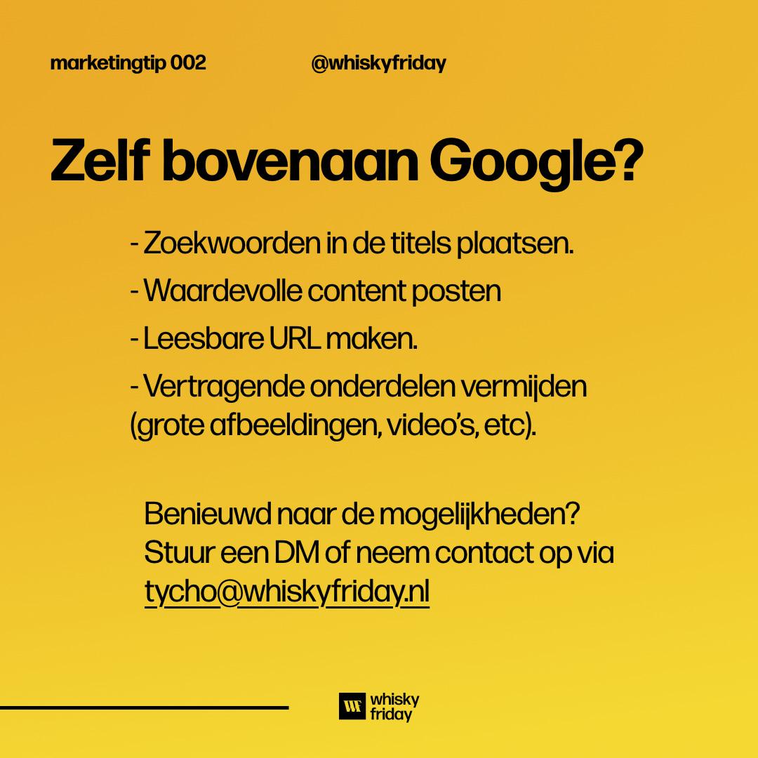Zoekmachine optimalisatie bovenaan google komen